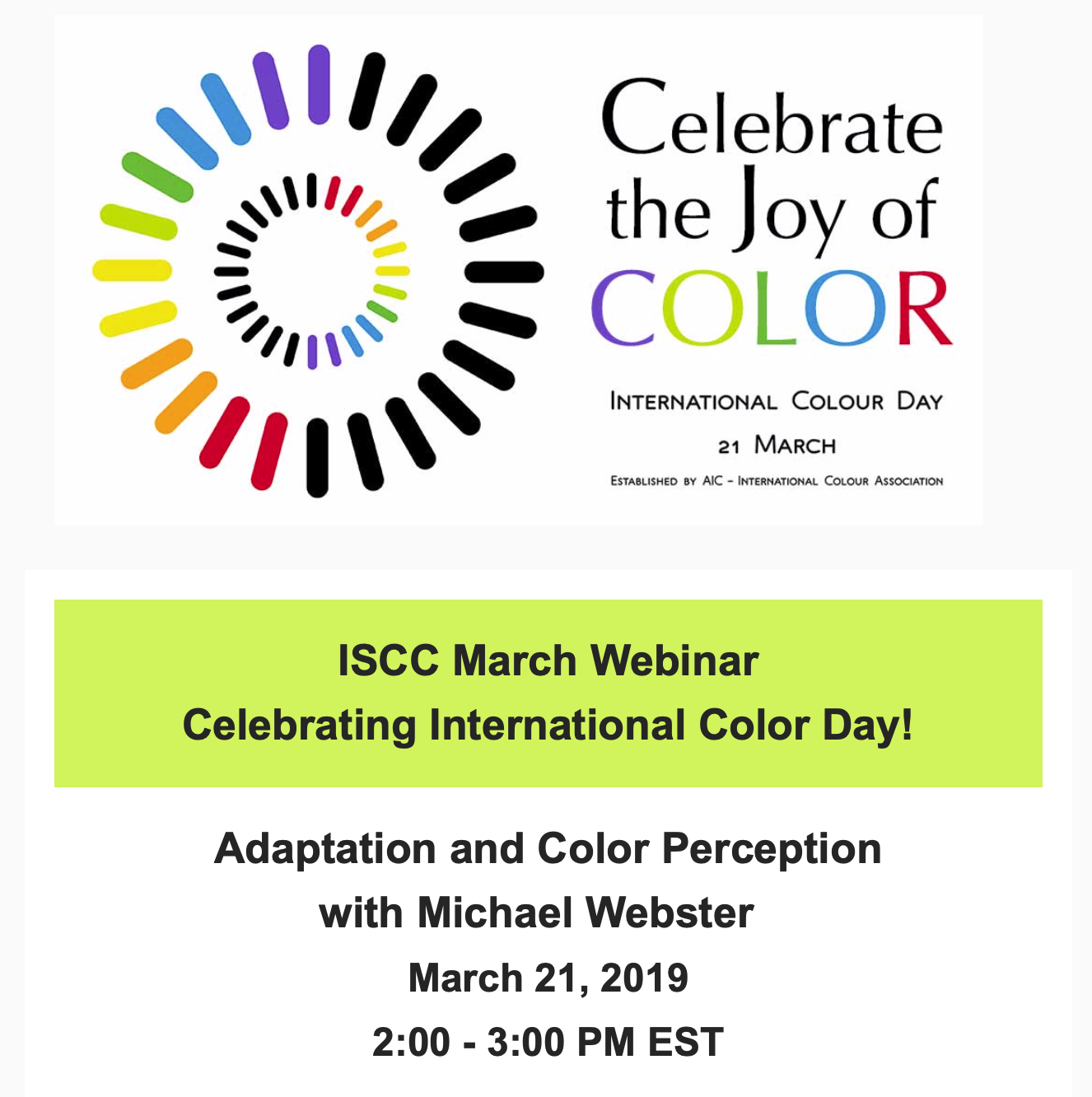 ISCC.org Adaptation and color perception webinar