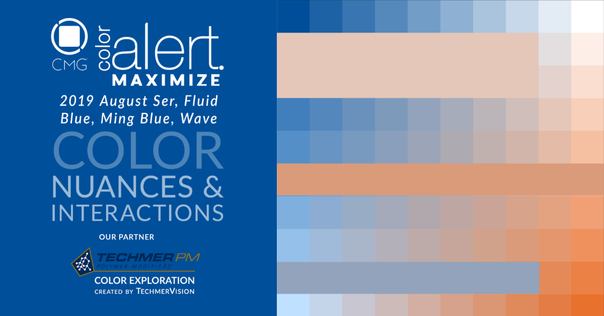 CMG Color Alert MAXIMIZE Color Exploration Ser, Fluid Blue, Ming Blue, Wave