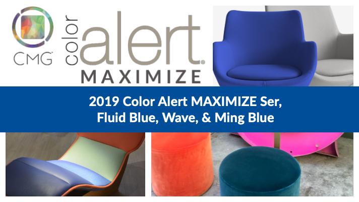 Color Alert MAXIMIZE Ser, Ming Blue, Fluid Blue, Wave